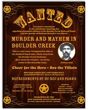 SLV Museum Wanted Poster